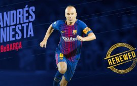 Andrés Iniesta signs lifetime contract with Barcelona