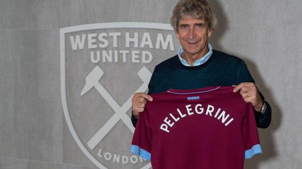 EPL: West Ham confirm Pellegrini as manager