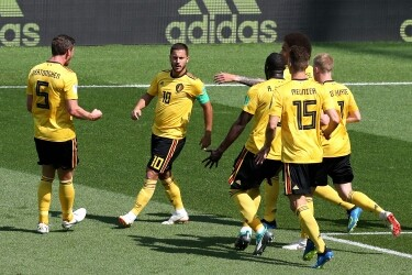 Hazard, Lukaku double fire Belgium past Tunisia