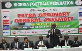 NFF Elections: Amaju Pinnick bids for historic second term