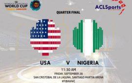 FIBAWWC: World Champions USA vsAfrican Champions Nigeria