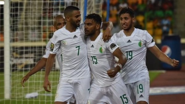 Algeria outclass Guinea 3-0 to reach AFCON last eight