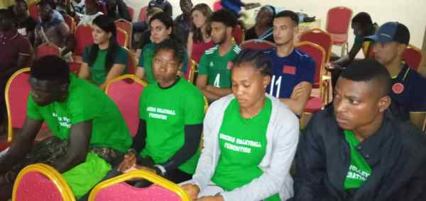 Team Nigeria in Cameroon for Camtel Beach Volleyball