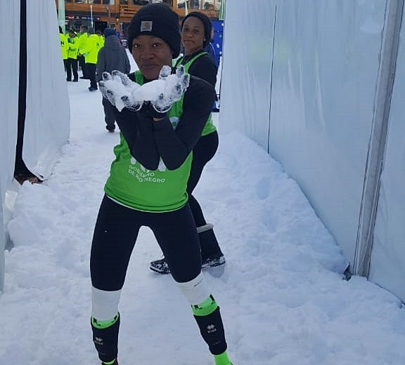 Francisca Ikhiede on playing snow volleyball
