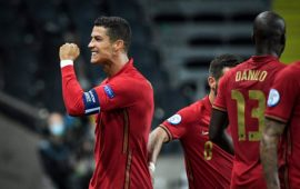 UEFA Nations League: Ronaldo reaches 100 in Sweden