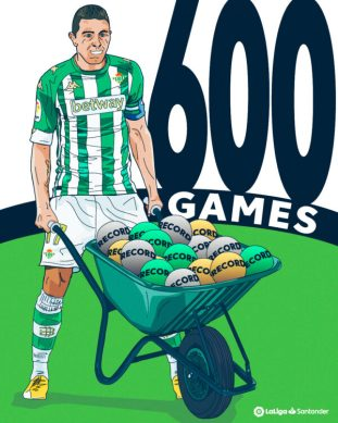 Joaquín becomes the sixth to 600 LaLiga games