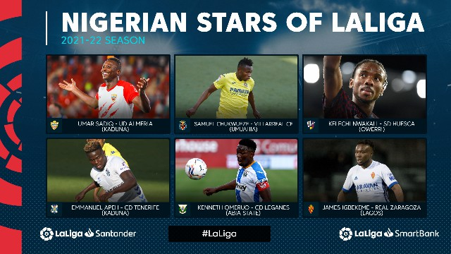 Nigerian stars in LaLiga & Smartbank this season