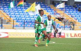 AWCON2022: Kanu brace lift Falcons over Ghana