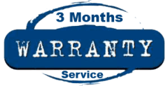 3 Months Warranty on Our Serviced Parts & Items