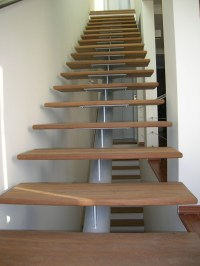 Modern steel and wood indoor stairs | Stainless Steel and ...