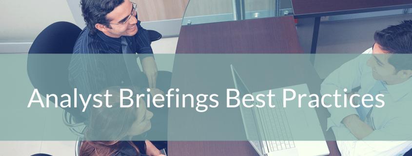 Analyst Briefings Best Practices