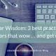 Webinar Wisdom