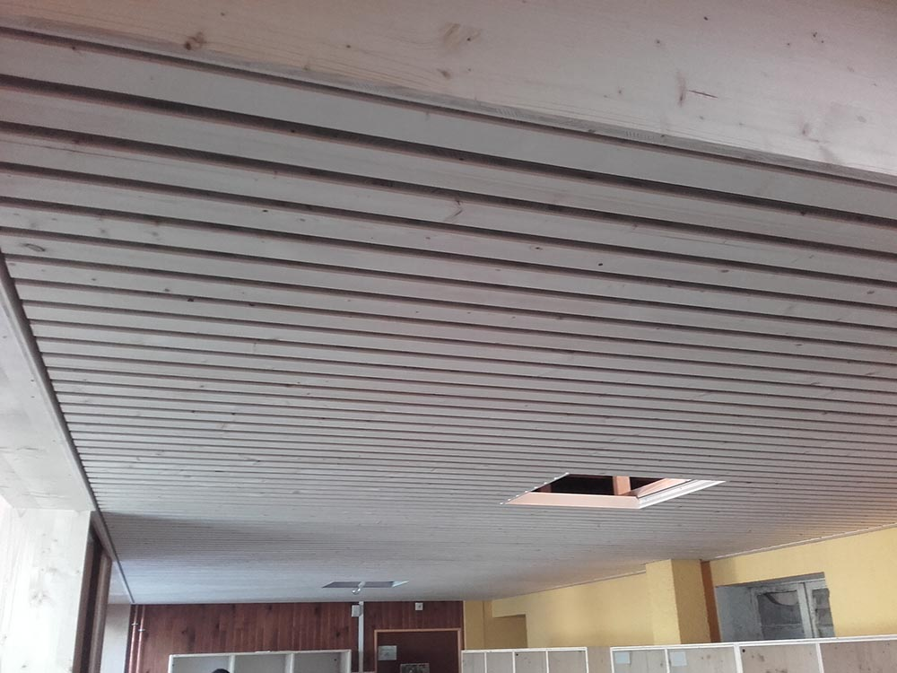 Habillage plafond et mur rnovation de murs et plafonds intrieurs  ATELIER CONSTRUCTION MAISON