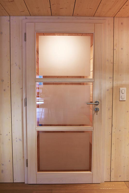 Porte intrieure en bois porte vitre en bois  ATELIER CONSTRUCTION MAISON BOIS