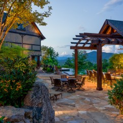 Outdoor Kitchen Pavilion Designs Brown Backsplash Modern Rustic Mountain Resort | Acm Design Asheville ...