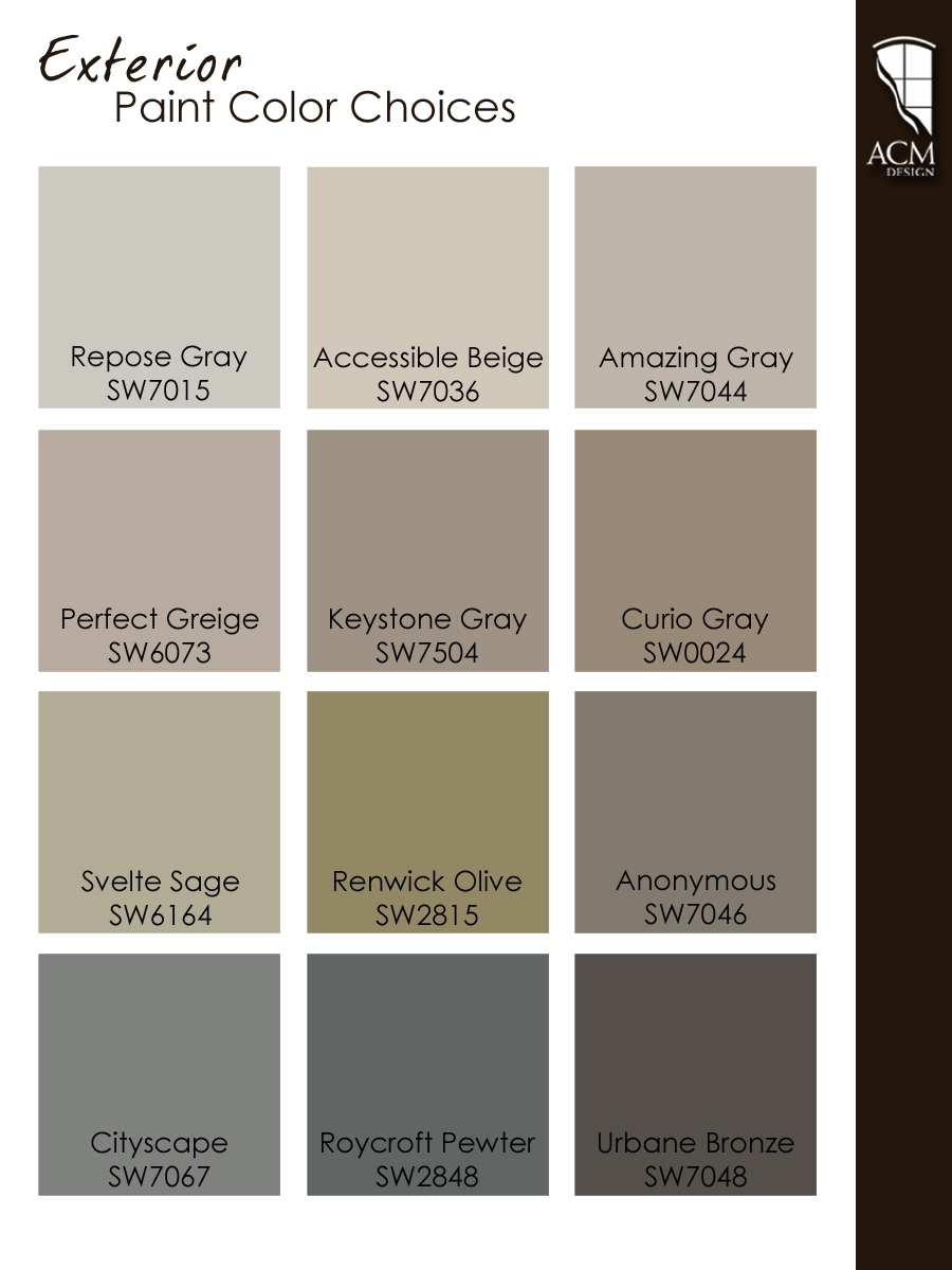 Exterior Paint Color Ideas  ACM Design  Asheville