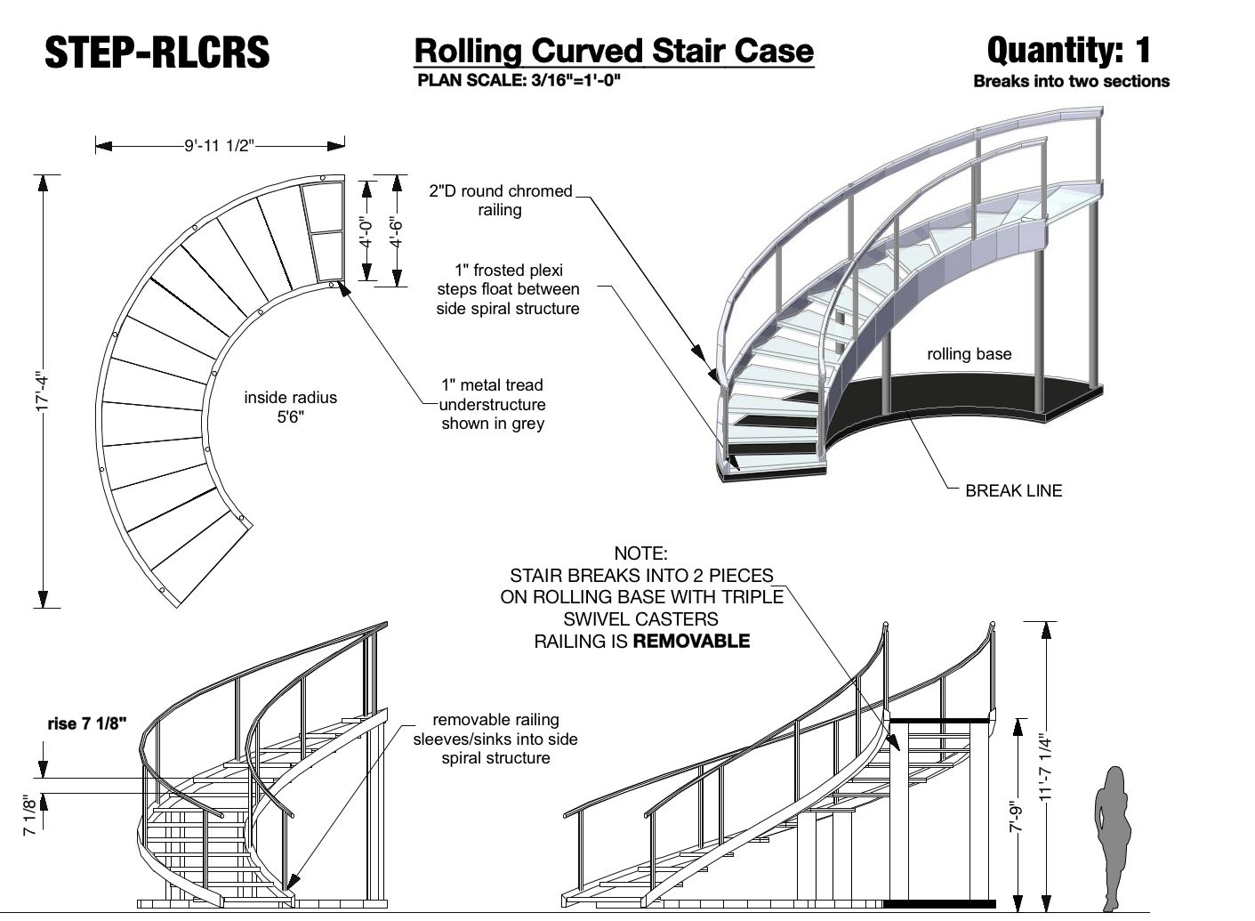 hight resolution of rolling curved stair