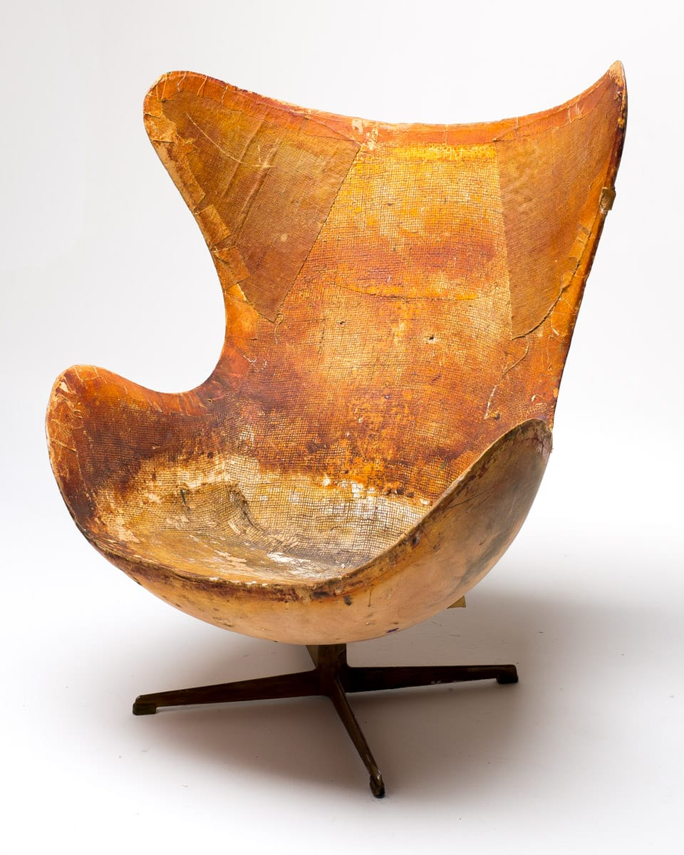 CH007 Vintage Distressed Egg Chair Prop Rental  ACME Brooklyn