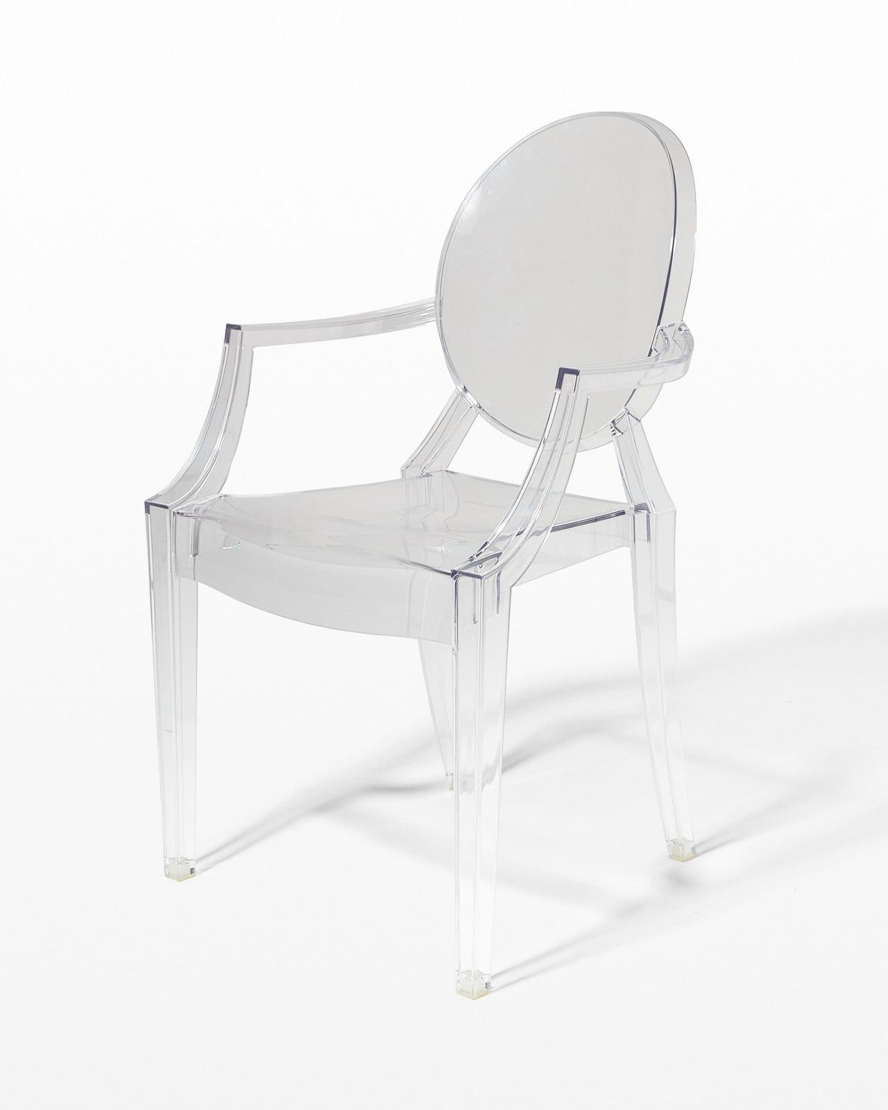 CH074 Acrylic Ghost Chair Prop Rental  ACME Brooklyn