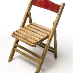 Wooden Folding Chairs For Rent Baby Shower Chair Rental Boston Ma Ch106 Distressed Wood Prop Acme Brooklyn Front View Of