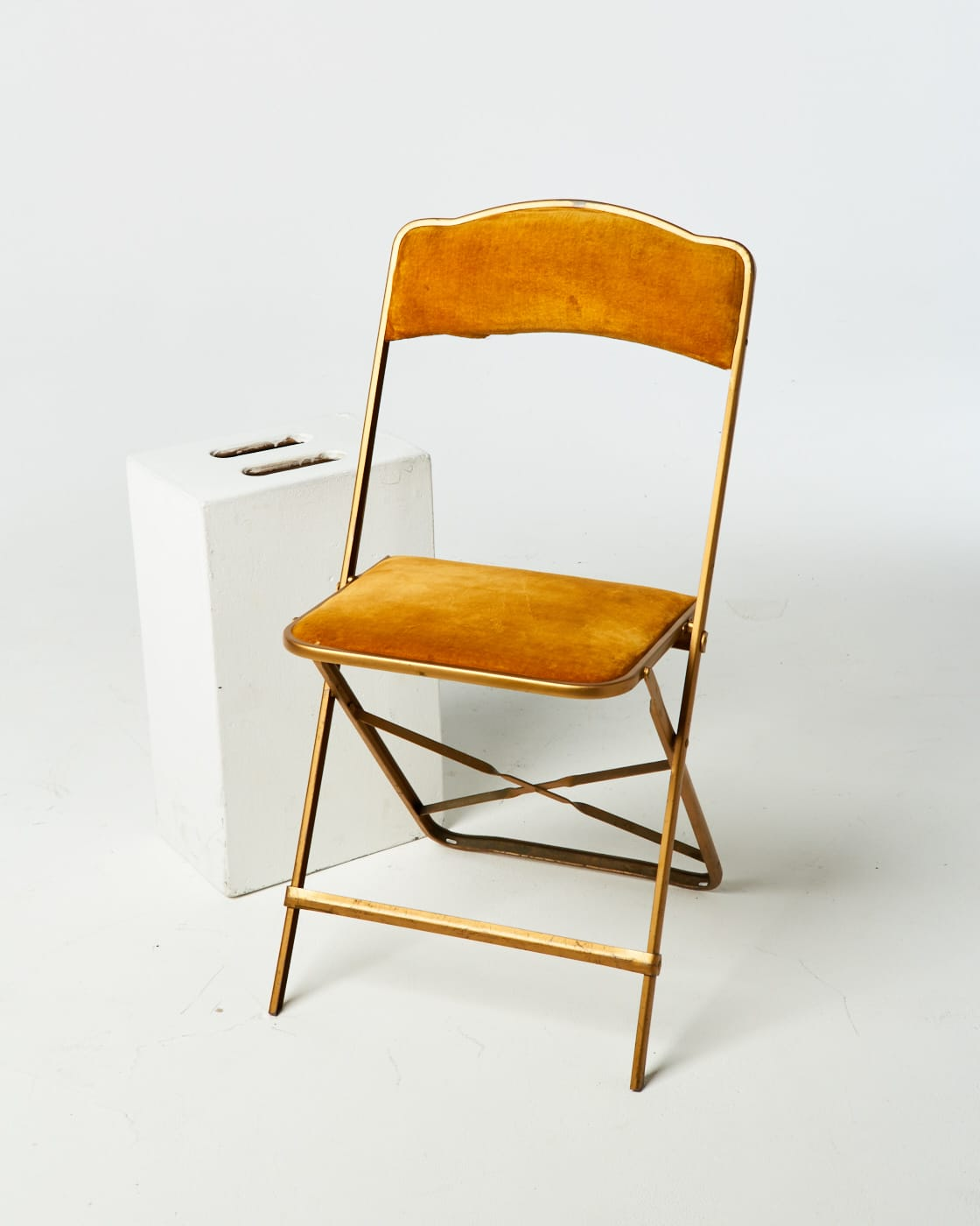 folding chairs for rent red jasper ch111 velvet metal chair prop rental acme brooklyn alternate view 1 of