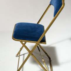 Blue Metal Folding Chairs Target Arm Chair Ch345 Velvet Prop Rental Acme Brooklyn Alternate View 2 Of