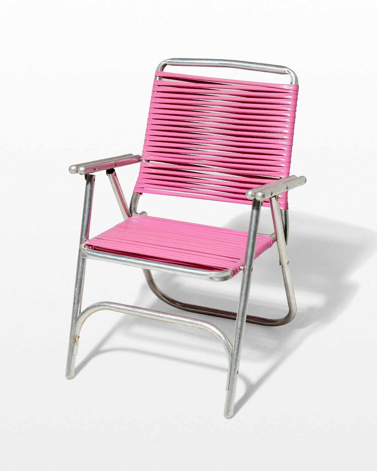 pink beach chair bed ch447 victoria folding prop rental acme brooklyn front view of