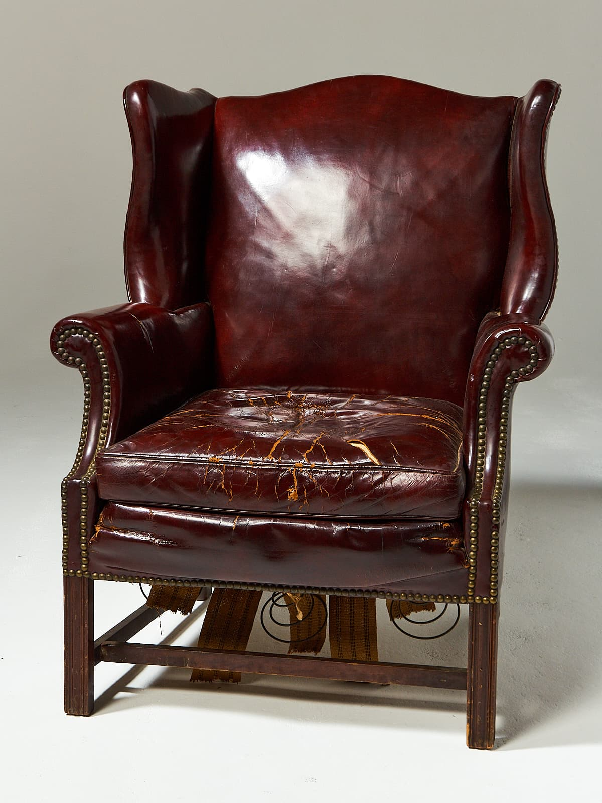 leather wingback chairs most comfortable swivel chair ch520 harold distressed prop rental acme alternate view 2 of