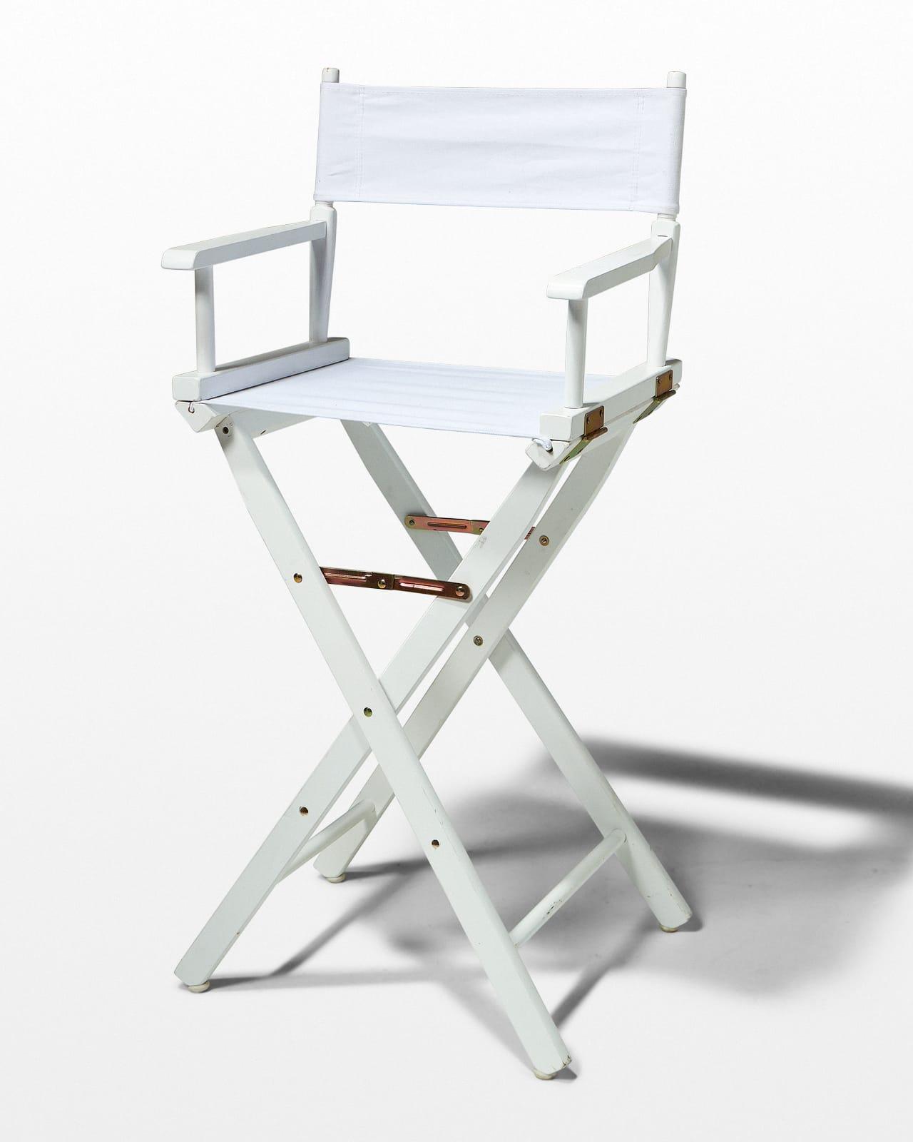 directors chair white yogibo bean bag ch110 plain prop rental acme brooklyn front view of