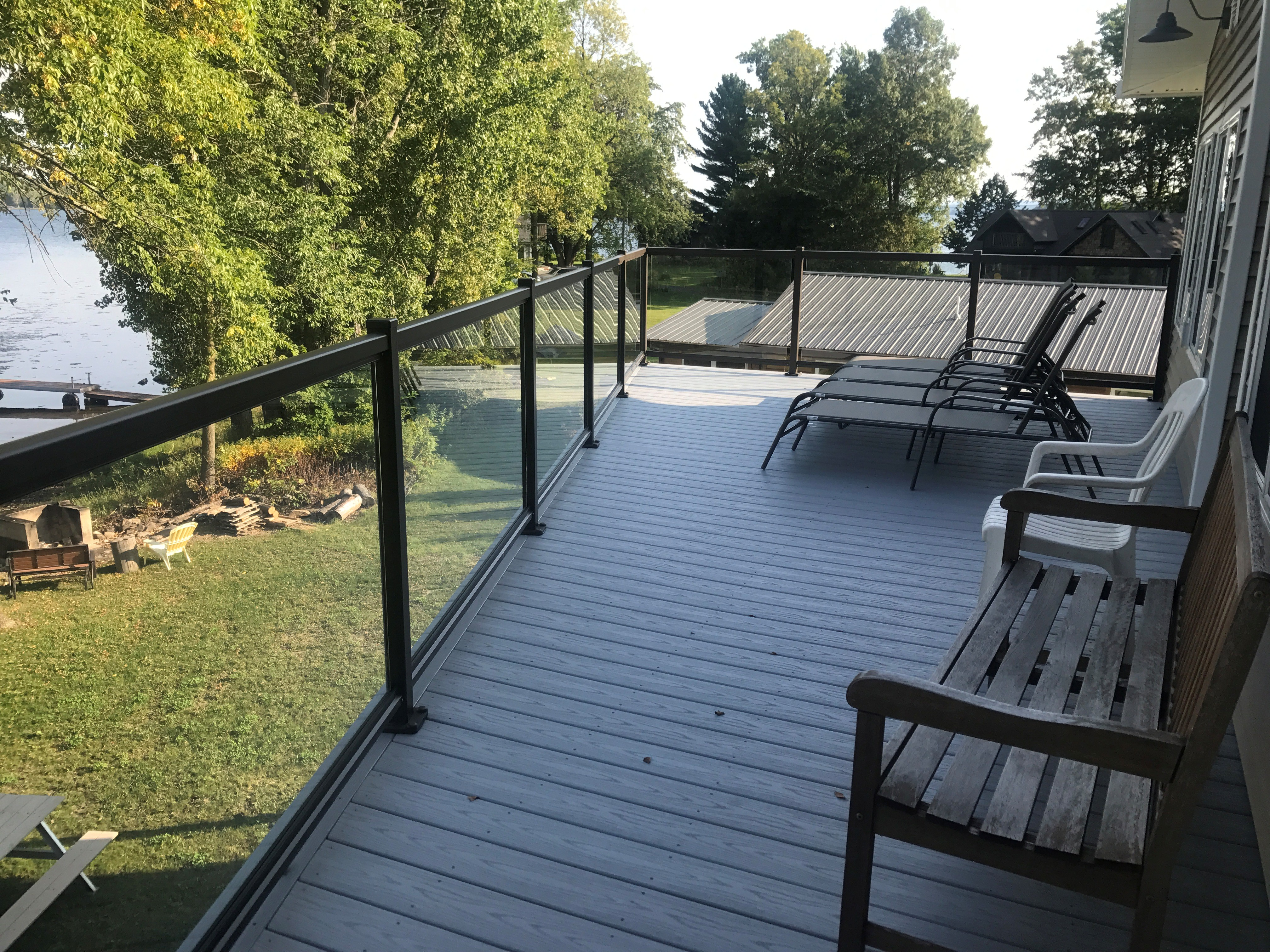 glass rail on patio deck acme glass
