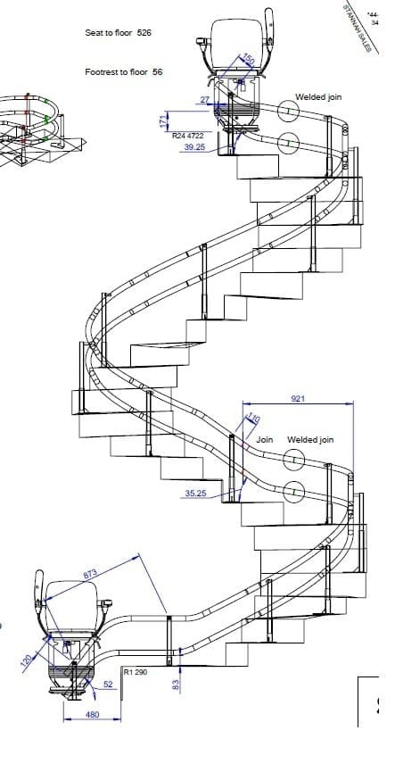 Curved Stair Lift San Francisco: our Stair Lift on a