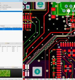 once routed the lines must be length matched within some tenths of mm with pcb differential pair editor tool  [ 2500 x 2224 Pixel ]