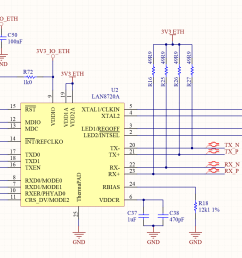 a phy chip typically used to interface the medium indipendent to the medium dependent part of the circuit is the microchip lan8720a 10base t 100base tx  [ 2918 x 986 Pixel ]
