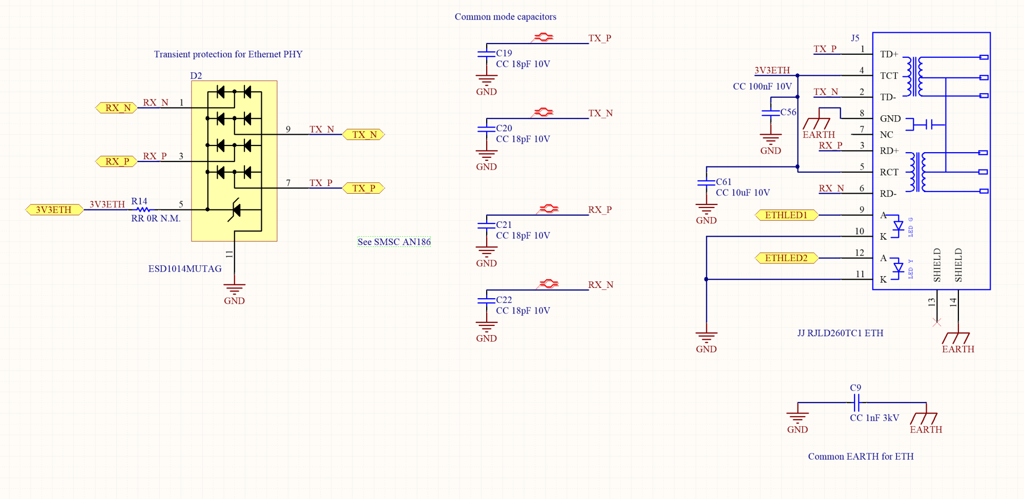 hight resolution of how to design the ethernet circuitry rj45 shield ground wiring diagram