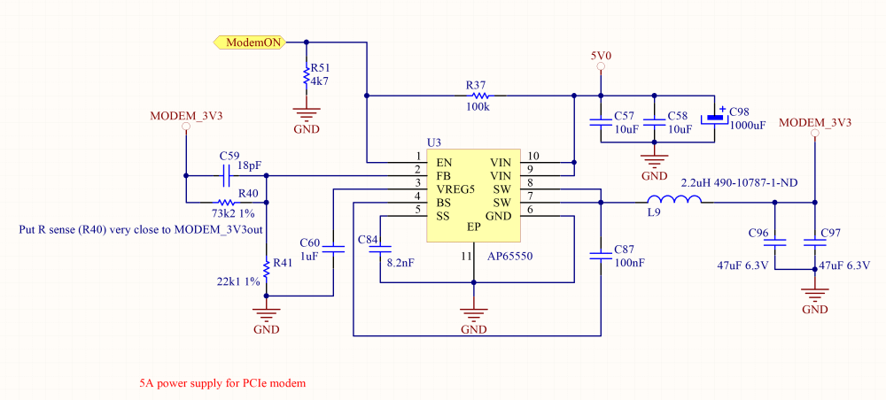 medium resolution of an ap65550 step down converter is used in this case in addition to its 5a capability it can be powered up to 18v allowing the design of a power supply