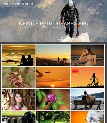 Infinite Photography Pro - Premium WordPress Photography Theme