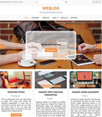 Weblog - Masonry style WordPress Theme, Free, Beautiful and Flexible