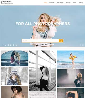 AcmePhotoPro - Masonry Based Premium Photography Theme