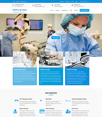 Medical Circle - Medical, Health & Multipurpose WordPress Theme