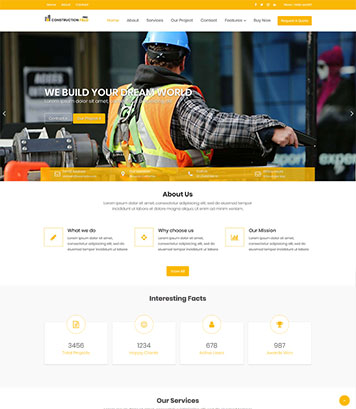 Construction Field Pro - Premium Construction & Real Estate WordPress Theme