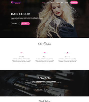 Beauty Studio - Beauty, Spa & Saloon charismatic free WordPress Theme