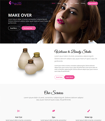 Beauty Studio Pro - Premium Beauty, Spa and Saloon WordPress Theme