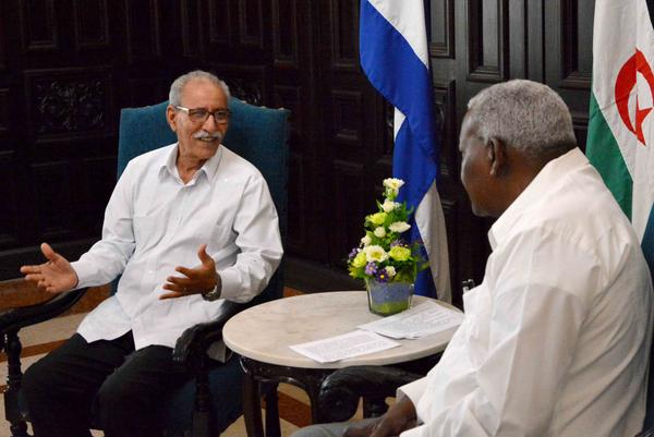 Presidente saharaui califica a Cuba como ejemplo de resistencia