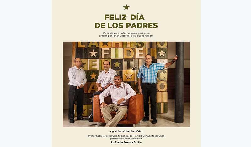 Presidente Díaz-Canel felicita a los padres cubanos