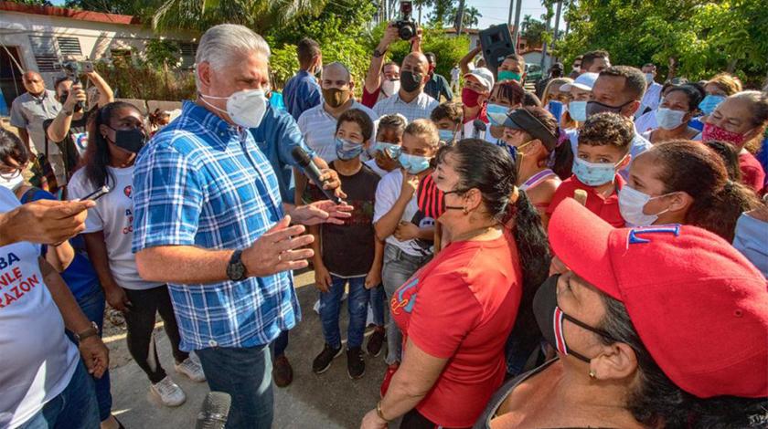 Miguel Díaz-Canel Bermúdez, Primer Secretario del Comité Central del Partido Comunista de Cuba (PCC) y Presidente de la República, destacó hoy en Twitter las labores de transformación social que tienen lugar en decenas de comunidades desfavorecidas.