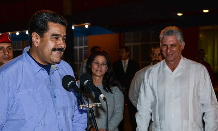 Diaz-Canel Receives President Nicolas Maduro