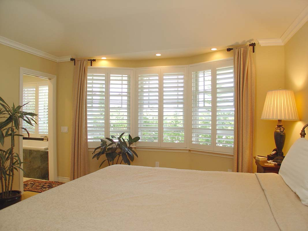 Cool Bay Window Bedroom Furniture Of Shutters On Interior