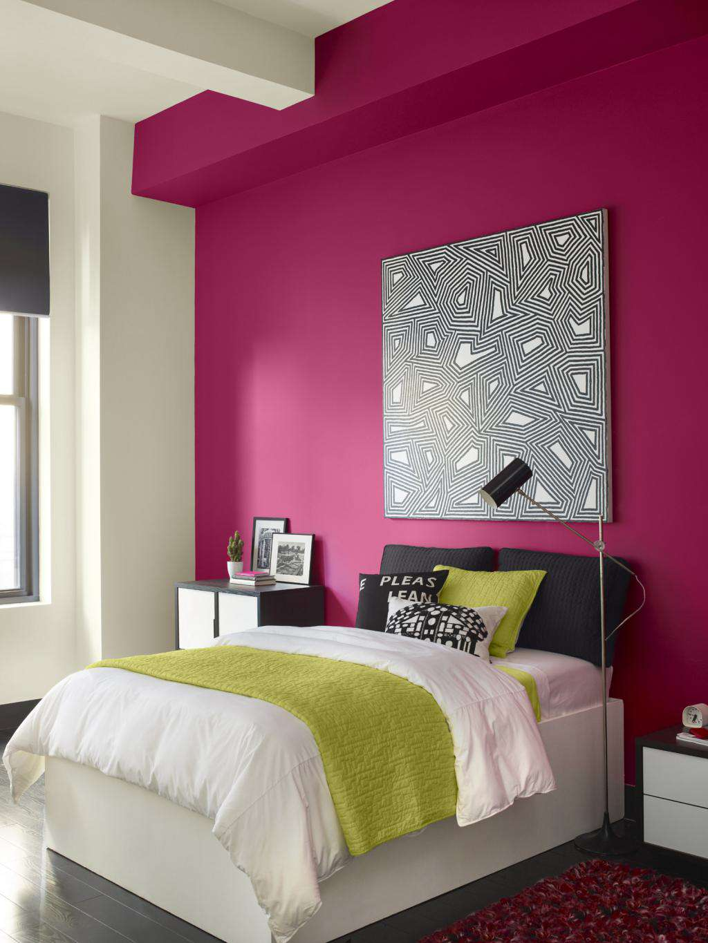 Magnificent Best Bination For Bedroom Of Beautiful Deep Pink Wall Paint White Wall Acnn Decor