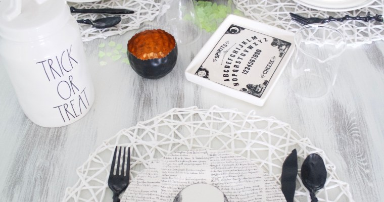 Simple & Easy Halloween Tablescape