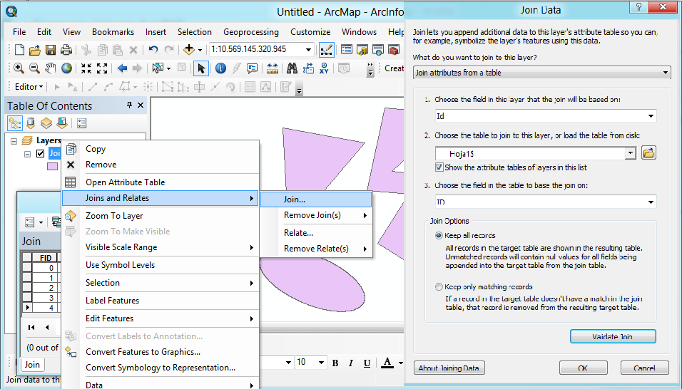 Joining data tables to shapefiles in ArcGIS – GeoGeek